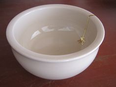 Stoneware bowl  , with gold , by annaceramist