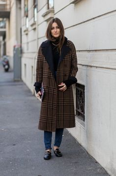 Pin for Later: What Winter Street Style Looks Like Right Now  No one will know (or care) what you have on underneath an amazing coat like this.