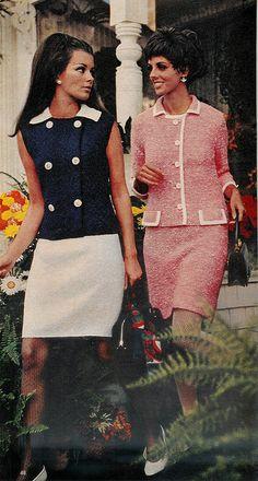 "From McCall's ""Needlework & Crafts"" Spring/Summer 1968 issue Sixties Fashion, 60 Fashion, Suit Fashion, Fashion History, Timeless Fashion, Retro Fashion, Vintage Fashion, Fashion Outfits, Fashion Design"