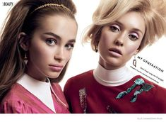 The ELLE Canada 'My Generation' Photoshoot Channels Big-Eyed Looks #beauty trendhunter.com