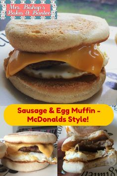 Mrs Bishop's Bakes and Banter: How To Make The BEST EVER Sausage & Egg Muffin (McDonalds Style!)