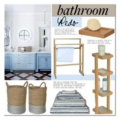 """""""Bathroom decor"""" by mada-malureanu ❤ liked on Polyvore featuring interior, interiors, interior design, home, home decor, interior decorating, .wireworks, Margo Selby and bathroom"""