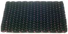 #363 Navy with Mauve insert Rockport Rope Doormats 100% made in USA Hand woven