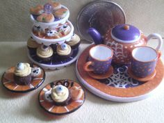 Half Scale Dollhouse Miniature food set by by CSpykersMiniatures, $19.00