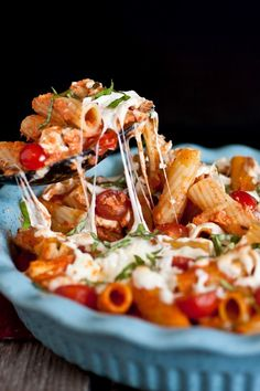 Grilled chicken caprese pasta.
