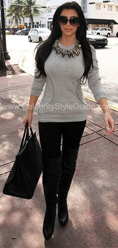 Kim Kardashian Celebrity Style Guide: Shopping in Miami, February 3, 2010