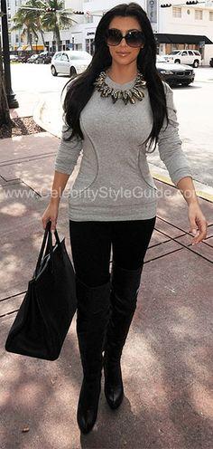Kim Kardashian Celebrity Style Guide: Shopping in Miami, February 3, 2010