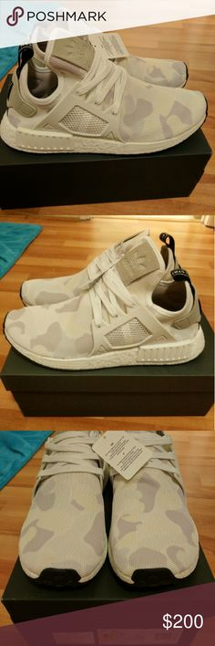 NEW MEN ADIDAS NMD XR1 WHITE DUCK CAMO Newest colorway for adidas men NMD xr1, sold out everywhere!  Men size 9.5 and 11  Deadstock.  100% authentic.  Will be shipped with original box and protection box.  No trades.  No returns for incorrect size, size is as described in description  Check out my account for more shoes and sizes!  Tags:Adidas, Jordan, Nike, retro, boost, Yeezy, ultra boost, prime knit, supreme, make up, contacts Adidas Shoes