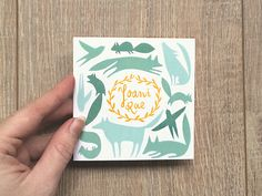 Made by Marianne Lock / Birth announcement card / Joani Rae / Illustration