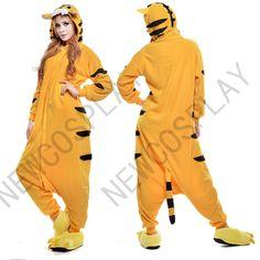 Hot New Kigurumi Pajamas Cosplay Costume Tiger Unisex Adult Onesie Sleepwear #Unbranded