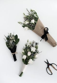 3 ways to wrap flowers from MichaelsMakers Homey Oh My Flower seeds, vegetable seeds, flower bulbs, Purple Pampas How To Wrap Flowers, My Flower, Fresh Flowers, Beautiful Flowers, White Flowers, Deco Floral, Floral Design, Floral Arrangements, Planting Flowers