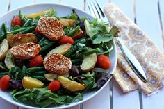 farmers' market salad by Elly Says Opa, via Flickr. A great, adaptable looking salad that can be a meal. Adding fresh corn in the summer would be good, as well as lots of other vegetables.