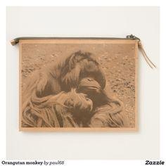 Orangutan monkey travel pouch