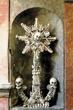 Human bone anchor  (At the Sedlec Ossuary)