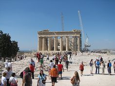 The Parthenon. A bit of renovation going on, but still amazing to look at! #travel