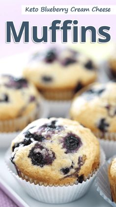 A low carb keto blueberry cream cheese muffins recipe thats more like mini cheesecakes. Its a great keto friendly snack! A low carb keto blueberry cream cheese muffins recipe thats more like mini cheesecakes. Its a great keto friendly snack! Blueberry Cream Cheese Muffins, Blue Berry Muffins, Blueberry Cheesecake Muffins, Sugar Free Blueberry Muffins, Coconut Flour Muffins, Blueberry Bread, Mini Muffins, Low Carb Desserts, Low Carb Recipes