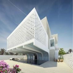 Orange Architects is a joint collaboration between three architecture firms; JSA, Cimka and Hofman Dujardin. Together they have designed these modern luxury villas for a luxurious housing development in Riyadh, Saudi Arabia.