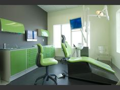 futuristic dentist office