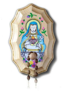 Wooden Rosary Holder Kit - Immaculate Heart of Mary i bet we could DIY this as a project for the girls for their room