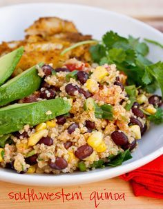 Southwestern Quinoa. No yogurt or cheese because of the Daniel Fast :) It was a delicious recipe that I first ate at rachel Johnston's! :)