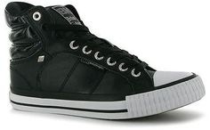 British Knights Womens Ladies Footwear Atoll Mid Cuff High Top Trainers on shopstyle.co.uk