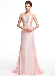 Evening Dresses - $142.99 - A-Line/Princess Sweetheart Sweep Train Charmeuse Evening Dress With Ruffle Beading (017026233) http://jjshouse.com/A-Line-Princess-Sweetheart-Sweep-Train-Charmeuse-Evening-Dress-With-Ruffle-Beading-017026233-g26233