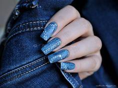 nailbamboo: Jeans nails