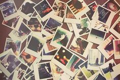 Someday I will cover an entire wall of Polaroid photos of my family and friends-places I've been to etc.