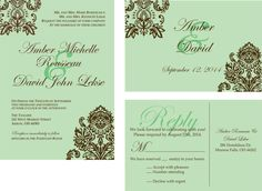wedding invitations personalized wedding by HAPPYEVERAFTER54