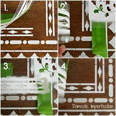 Indian Inlay - how to make corners, all of the steps to make our new table