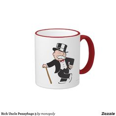 Rich Uncle Pennybags 3 Ringer Mug