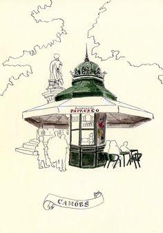 Kiosk, Most Beautiful Cities, Map Art, Vintage Art, Journal, Medieval, Drawings, Gazebo, Rest