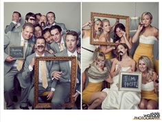 Silly wedding pictures.