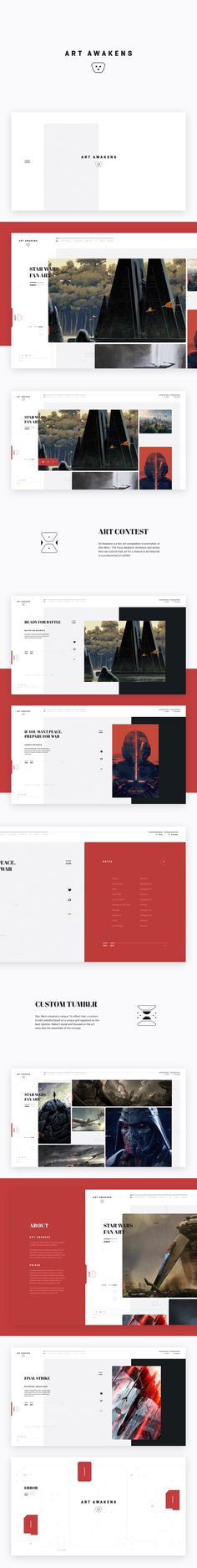 Star Wars Episode VII Tumblr Site | Abduzeedo Design Inspiration