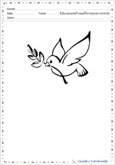 Desenhos De Pombas Home Decor, Dove Drawing, Peace Dove, Print Coloring Pages, Decoration Home, Room Decor, Interior Decorating