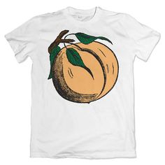 Colored vintage peach illustration tee  white unisex t-shirt. 100% combed and ring spun cotton. Male model is a size small wearing a size small shirt Please be sure to see below for sizing information!  Shirts are printed using direct to garment printing with eco friendly water based inks.  Please note that shirts are printed and shipped on demand from a t-shirt printer (not me). I do not keep shirts in stock. When an order is placed it is sent to my fulfillment center (located in the United…