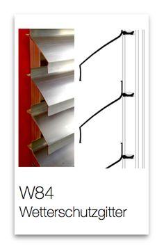 Wetterschutzgitter W84 Aluminium, Design, Lattices, Products