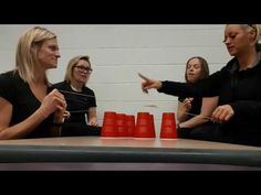 Cup stacking (team building exercise) - YouTube