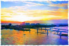 Featured Art - Sunrise Colors Over The Halifax  by Alice Gipson