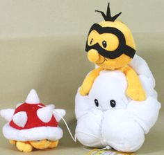 "Super Mario Bros     LAKITU SPINY 14"" (36CM) SUPER MARIO BROS PLUSH TOY      $13.00 on EBAY"
