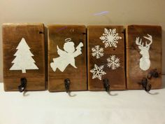 Rustic Christmas Stocking Hanger Reclaimed by HalliesCollectibles