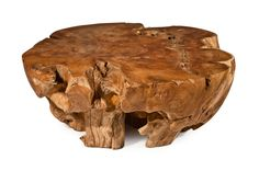 BRADLEY 'Tiki' table is a natural teak root accent table.