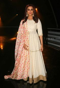 Parineeti Chopra at 'Namaste England' Promotions : It's a lovely lehenga by Abhinav Mishra and maybe on someone else, it would have looked ethereal but the sheer amount of layering and flare seem to come off as overwhelming on Parineeti and she looks...