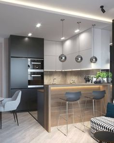 Modern Apartment Kitchen Designs - The Best Modern Kitchens Kitchen Interior Design Modern Kitchen 1649 Cozy Modern Apartment In Poland Etc With Images China New Modern Apartment Design. Kitchen Room Design, Best Kitchen Designs, Kitchen Sets, Home Decor Kitchen, Interior Design Kitchen, Modern Interior Design, Home Kitchens, Decorating Kitchen, Kitchen Themes