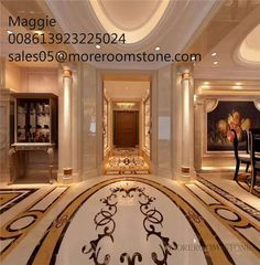 Palace Design Beautiful Marble Flooring Tile, Marble Medallion for Hall Design