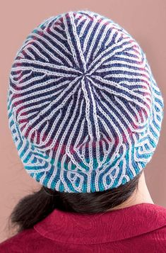 Ravelry: Norwegian-Style Hat pattern by Mercedes Tarasovich-Clark, from the book Brioche Chic