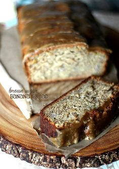 Brown Sugar Banana Bread with Brown Sugar Glaze!!
