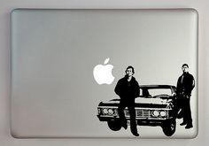 Supernatural Inspired Sam and Dean with Impala Decal Macbook Laptop on Etsy, $9.99