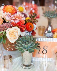 Floral Centerpiece in Terracotta Pots