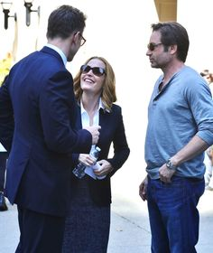 #TheXFiles Gillian Anderson and David Duchovny are spotted on the ...